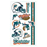 Miami Dolphins Temporary Tattoos at Amazon.com