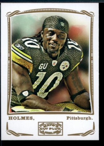 Santonio Holmes - SP - Short Print - Pittsburgh Steelers - 2009 Topps Mayo Football Card # 321 / NFL Trading Card in Screwdown Case!