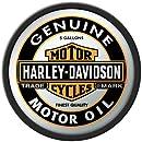 Harley Davidson Oil Can Round Mirror