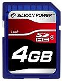 シリコンパワー SDHCメモリーカード 4GB (Class4) ブリスターパッケージ 永久保証 SP004GBSDH004V10