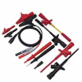 11-in-1 Electronic Test Leads Kit, Digital Multimeter Leads with Alligator Clips Replaceable Multimeter Probes Tips