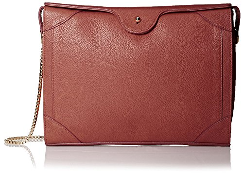 Carven-Womens-Grained-Leather-Bag-Burgundy