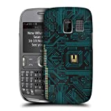 Head Case Designs Black Circuit Boards Protective Snap-on Hard Back Case Cover for Nokia Asha 302