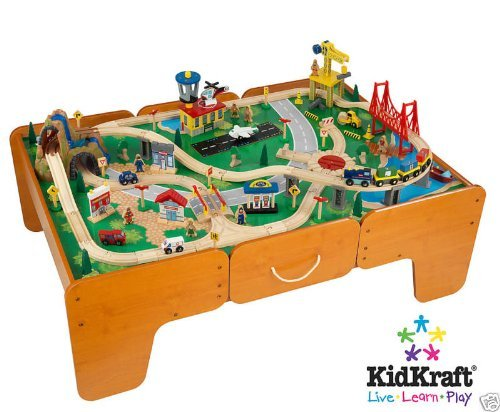 Kidkraft Limited Edition Waterfall Mountain Train Table and Train Set W/drawers (Wooden Train Set Table compare prices)