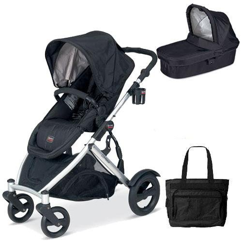 Britax U281772Kit5 B-Ready Stroller And Bassinett With Diaper Bag - Black front-1042660
