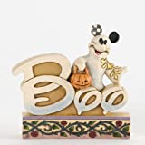 Disney Jim Shore Mickey Mouse Boo Ghost Word Plaque Figurine