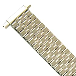 Watch Band Expansion Metal Stretch Silver Color fits 16mm to 22mm