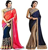 #8: Festive Sale Offer Sarees For Women Party Wear Offer Designer Sarees Combo Pack of 2 Saree