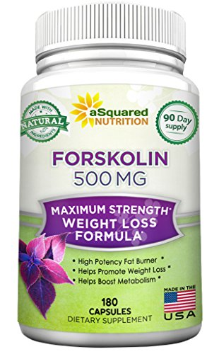 100% Pure Forskolin 500mg Max Strength - 180 Capsules, Forskolin Extract Supplement for Weight Loss Fuel, Coleus Forskohlii Root 20% Forskolin Diet Pills, Belly Buster Fat Burner 2x Slim Trim Lose (Forskoline Extract compare prices)