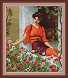 Luca-S Flowers of Summer Counted Cross Stitch Kit