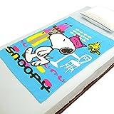 【スヌーピー】お昼寝ケット【2枚セット】子供用タオルケット 82×115cm SN2438【ブルー】
