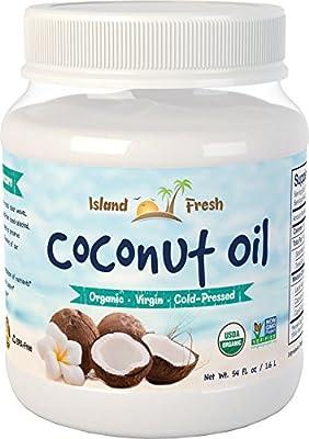 Island Fresh Superior Organic Virgin Coconut Oil, 54 Ounce by Viva Labs