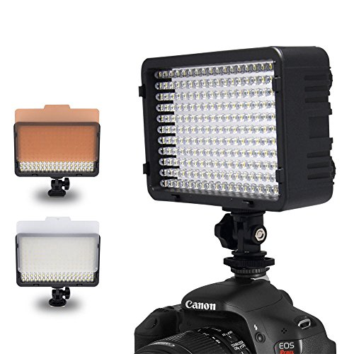 Mcoplus® 260 LED Dimmable Ultra High Power Panel Digital Camera / Camcorder Video Light, LED Light – Metal Hot Shoe mount- for Canon, Nikon, Pentax, Panasonic,SONY, Samsung and Olympus Digital SLR Cameras image