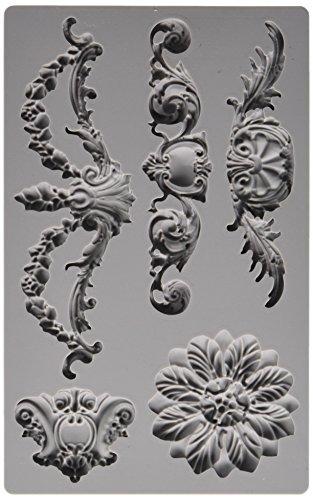 Prima Marketing 814793 Baroque No.3 Iron Orchid Designs Vintage Art Decor Mold, Grey (Vintage Irons compare prices)