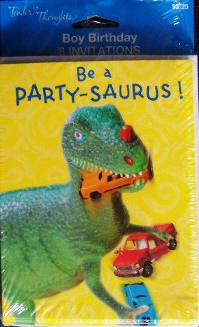 Be a Party-saurus (8 Invitations with Envelopes) - 1