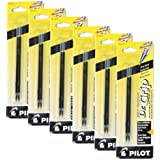 Value Pack of 6 - Pilot Dr. Grip Ballpoint Ink Refill, 2-Pack for Retractable Pens, Fine Point, Black Ink (77210)