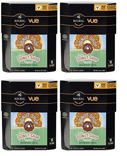 Coffee People Donut Shop Keurig Vue Portion Pack Coffee Pods, 64 Count Vue Pods (Keurig Vue Cup Donut Shop compare prices)