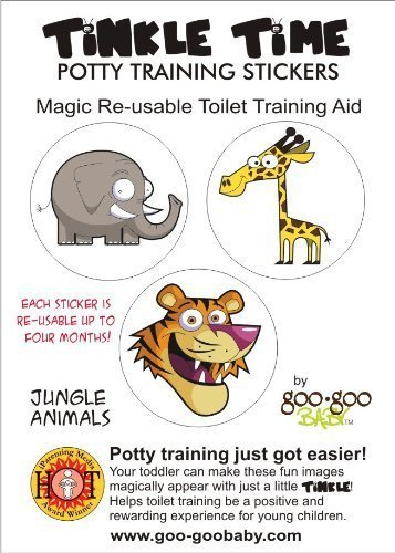 Tinkle Time Reusable Potty Training Stickers - Potty Train in a day! Jungle Theme