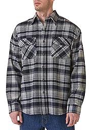 Teflon Men\'s Apparel LS Brawny Plaid Flannel Shirt, 3X-Large, Grey Blue