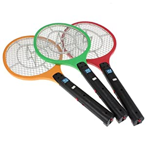 4x Rechargeable Electric Insect Fly Mosquito Bug Zapper Swatter Killer Racket (EU plug)