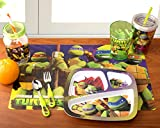 Zak! Designs Placemat with Teenage Mutant Ninja Turtles Graphics, Set of 4, BPA-free Plastic