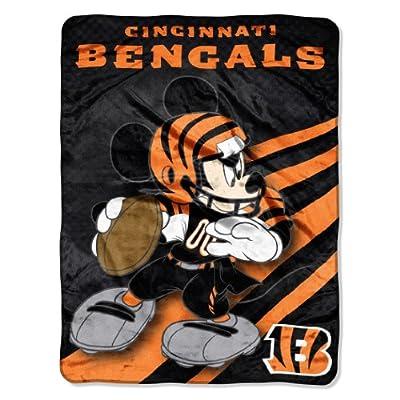NFL Cincinnati Bengals Mickey Mouse Ultra Plush Micro Super Soft Raschel Throw Blanket