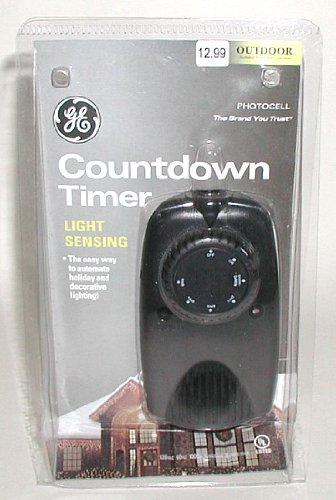 Ge Countdown Photocell Timer - Auto & Manual - Indoor & Outdoor 120Ac