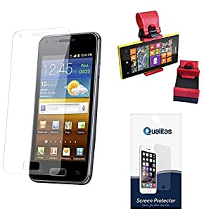 Qualitas Ultra Clear Pack of 6 Anti-Glare Anti-Scratch Anti-Fingerprint Screen Protector for HTC One E8 + Car Steering Holder
