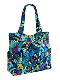 Vera Bradley Pleated Tote in Midnight Blues