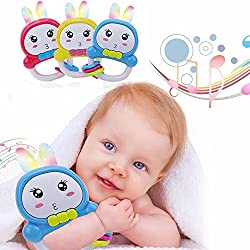 Cute Rattle Rabbit Light Ears Educational Sound & Music Toy Teether For Baby Infant Newborn