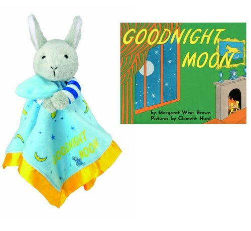 Goodnight Moon Bunny Blankie & Beloved Board Book, Baby Gift Set - 1