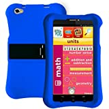 Pinig Kids Smart Tablet 6-8 With Blue Bumper (6.9 Inch, 2G, 3G, HD, 1280x720), Silver Black