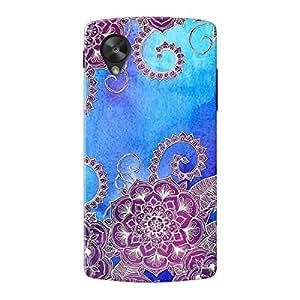 EYP Girly Floral Pattern Back Cover Case for LG Google Nexus 5
