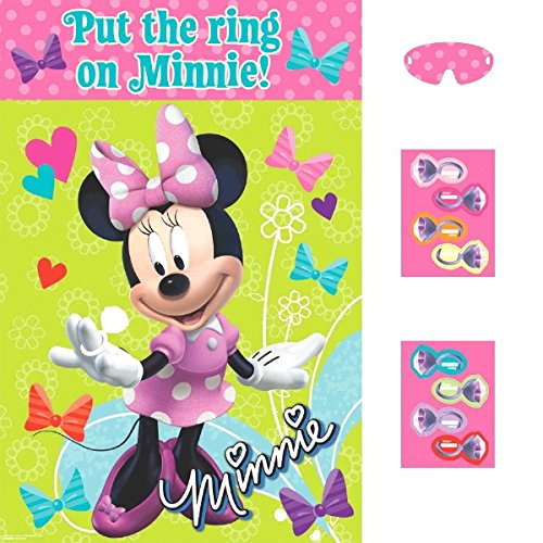 "Disney Minnie Mouse Birthday Party Game Activity Supplies (4 Pack), Multi Color, 37 1/2"" x 24 1/2""."