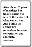 After about 20 years of marriage, I'm finally st... - Mel Gibson - fridge magnet, White