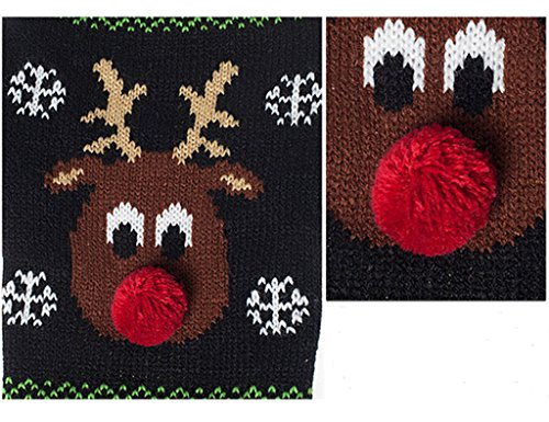 PetsLove Christmas Red Nose Rudolph Dog Clothes Cat Sweaters Pet Jerseys Clothing Gear Coats Apparel L