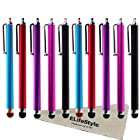 10 Pack of Pink, Blue, Purple, Red, Black Stylus Universal Touch Screen Capacitive Pen for Kindle Touch iPad 2, Iphone 4,4S,