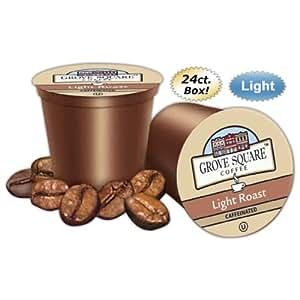 GROVE SQUARE (TM) - Single Cup Coffee - Light Roast - 24ct