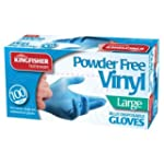 100 Powder Free Vinyl Blue Disposable...