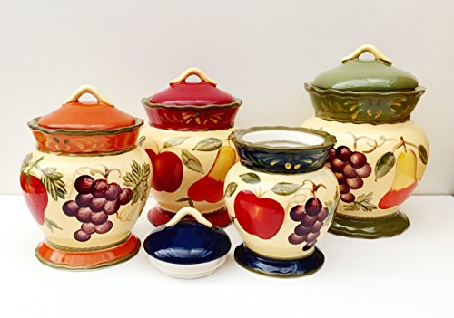 Apple and Fruit Canister Set