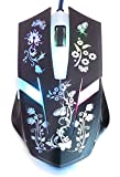アンチェロ ゲーミングマウス 花蝶 光学式 USB 有線 6ボタン