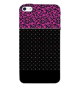 Black Pinkish Dotted 3D Hard Polycarbonate Designer Back Case Cover for Apple iPhone SE