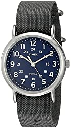 Timex Unisex TW2P657009J Weekender Silver-Tone Watch with Grey Nylon Band