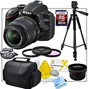 buy nikon d3200 digital slr camera, with nikon 18 55mm f/3