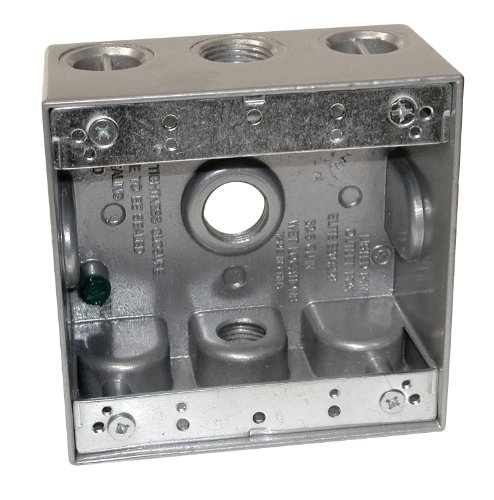Preferred Industries 662034 2-Gang Weatherproof Aluminum Box With Three ½-Inch Outlets