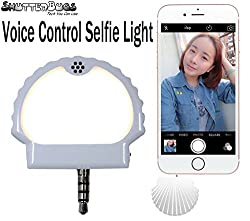 ShutterBugs Voice Control Selfie Flash Light For Photos And Video Enhancing Photographs (White)