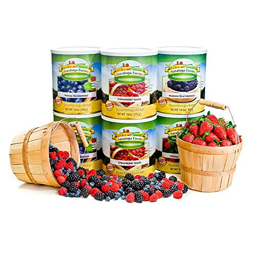 Freeze Dried Berries Pack (#10 Can - Strawberries, Blueberries, Blackberries and Raspberries) (Freeze Dried Strawberries 10 Can compare prices)