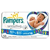 Pampers Sensitive Baby Wipes Refill 6 x 56 per pack