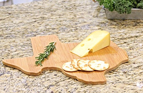 Oliva Italiana Bamboo Texas State Cutting Board Eco-Friendly, 100% Organic bamboo, Professional-Grade, and won't dull your blade. Please that gourmet in your life with the best cutting board.