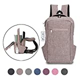 Laptop Backpack,Winblo 15 15.6 Inch College Backpacks Lightweight Travel Daypack – Mauve Pink